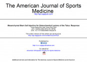 Mesenchymal Stem Cell Injection for Osteochondral Lesions of the Talus: Response